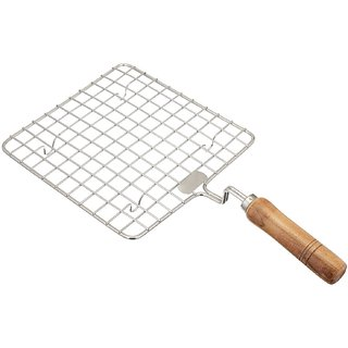 sell net retail Stainless Steel Papad Jali Square  pack of 1