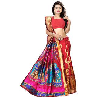 pr creation self design woven kajipuram silk saree palty wear saree with blouse and fancy saree