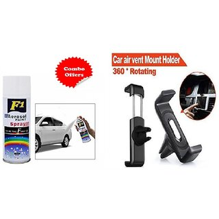 F1 Spray Paint White and Car Air vent Holder (Combo offer )