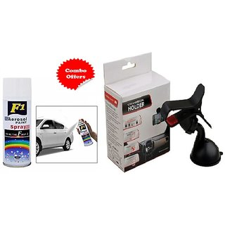 F1 Spray Paint White and Car Holder (Combo offer )