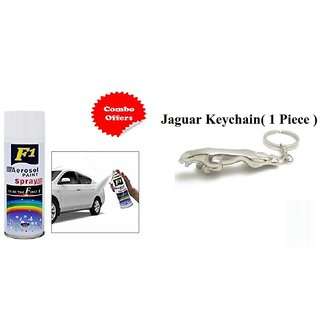 F1 Spray Paint White and Jaguar Keychain (Combo offer )