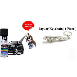 F1 Spray Paint Black and Jaguar Keychain (Combo offer )