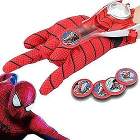 Jojoss Spider-man Play-set, Gloves  Disc Launcher for  Kids 4+