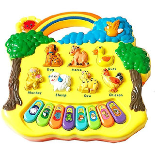 OH BABY, BABY Baby farm animal piano with real animal sound, piano sound ,LED flash Light FOR YOUR KIDS SE-ET-590
