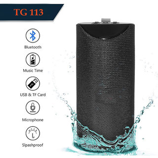 TG113 - Bluetooth Speaker Best Sound Quality Playing with Mobile/Laptop/AUX/Memory Card/Pan Drive( Multi-Color )