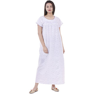 89ce66d8c2 Buy Indian Women casual Cotton Night Gown Bikni Cover Indian Dress Long  Skirt Maxi Nightdress Online - Get 87% Off