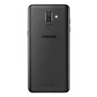 Samsung J8 Replacement Battery Back Door Glass Panel Cove Back Panel (Black)