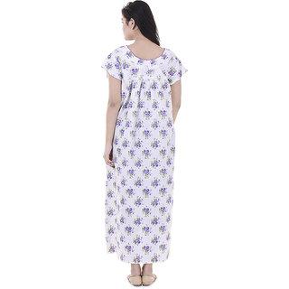 710b6da742 Indian Women casual Cotton Night Gown Bikni Cover Indian Dress Long Skirt  Maxi Nightdress