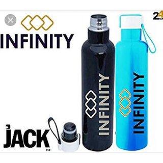 INFINITY JACK 750 VACUUM INSULATED STEEL BOTTLE (BLUE, PINK, BLACK)