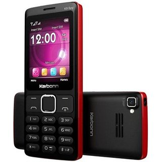 Karbonn K9 Spy Dual Sim 1750 mAh Battery 2.4 Inch Display Mobile With Dual Camera/FM/Auto/Call/Recording/Mobile Track