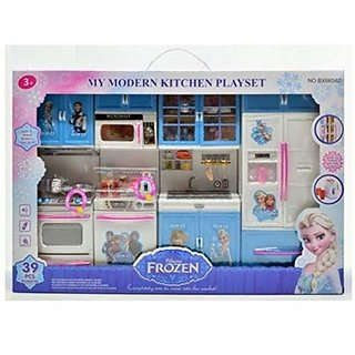Jojoss Modern Kitchen Set with Light Sound Battery for Kids