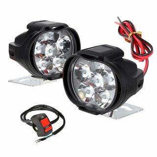Set of 2 RA Accessories 6 LED Transformer Bike Fog Light