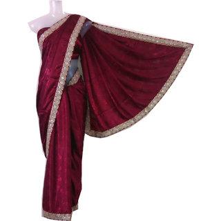 Craftcart Women's Synthetic Jute Saree