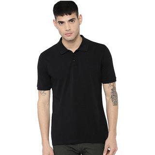 Concepts Black Cotton Blend Polo Tshirt