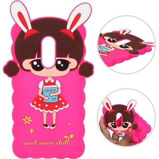 Doll Cute Hello Kitty Soft Silicone  Girl's Back Case Cover for Oppo F9 Pro colour randomly