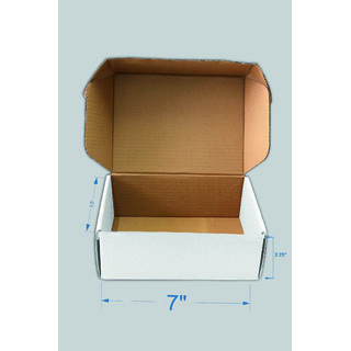 38ed2d46a89 Buy SPP White Packaging Flat Corrugated Boxes 7x 3.5 x 2.5 inch 3 Ply Pack  of 50 Carton Boxes for Warehouse Industrial   Office use Online - Get 19%  Off