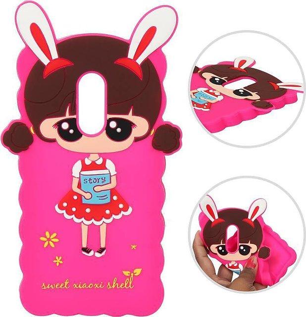 839a84e75 Doll Cute Hello Kitty Soft Silicone Girl's Back Case Cover for Redmi Note 4  colour randomly