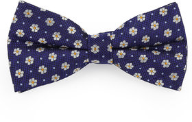 69th Avenue Men's Blue Polyester Floral Printed Pre-Tied Bow Tie