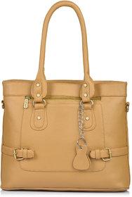 Fostelo Women's New York Classic Handbag (Beige) (FSB-1188)