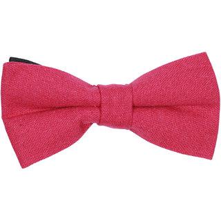 69th Avenue Men's Red Cotton Free Size Pre-Tied Bow Tie