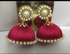 Slik thread earrings