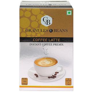 Granules and Beans Coffee Latte Instant Coffee Premix - (10 Sachetx14gm140gm)