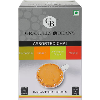 Granules and Beans Assorted CHAI Instant Tea Premix - (10 Sachetx14gm140gm)