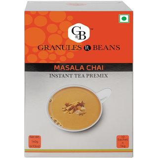 Granules and Beans Spice (Masala) Instant Tea Premix - (10 Sachetx14gm140gm)