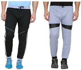 Swaggy Solid MenMulti Colour Trackpants( Pack Of 2 )