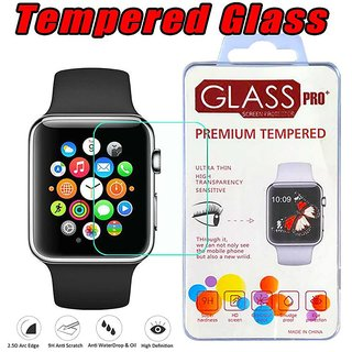 Japang Tempered Glass Screen Protector For iWatch 38mm Premium Quality 5D 9H Glass