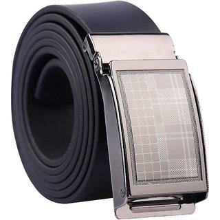 Sunshopping men's black Leatherite auto lock buckle belt (Synthetic leather/Rexine)