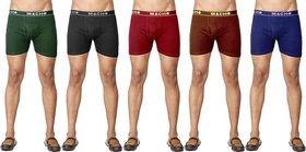 (PACK OF 5) MACHO Men's Long Trunk/Underwear - Multi-Color