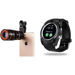 c61cc3920eae Buy 8X Mobile Lens V8 Smart watch