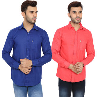 29K Mens Multicolor Pack of 2 Casual Shirts