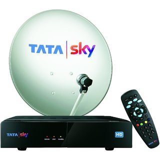 TataSky HD Set Top Box Connection with 1 Month Family Kids HD Pack