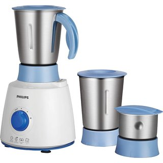 Philips HL7610/04 500 W Mixer Grinder(White and Blue 3 Jars)