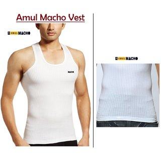 Amul Macho Parka Sleeveless Premium Vest Pack of 5 Pcs (Size-95,100) (Linning Baniyan)