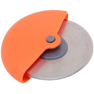 Stainless Steel Round Pizza Cutter / Pizza Slicer (Color May Vary)