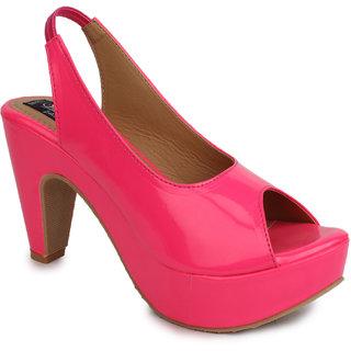 Sindhi Footwear Women's Pink Rexin Casual Sandals