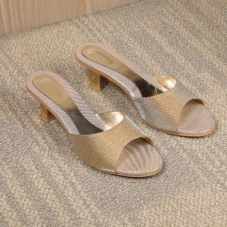 dba5cf14a24 Buy Sindhi Footwear Women s Golden Synthetic Leather Sandals Online ...