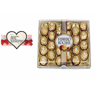 Loops n Knots Valentine's Day Gift Ferrero Rocher Chocolates 24 Pcs with Card/ Gift for Valentine