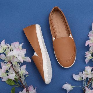 Sindhi Footwear Women's Beige Rexin Casual Shoe