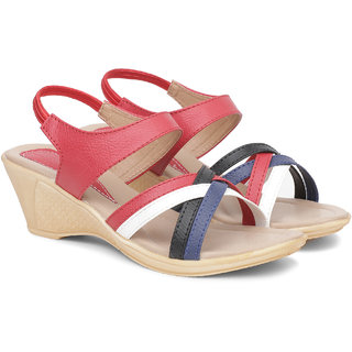 Sindhi Footwear Red Casual Sandals