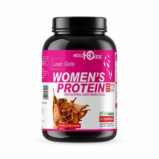 HEALTHOXIDE Womens Protein with 100 Natural Sweetener Stevia  1 kg (Milk Chocolate)
