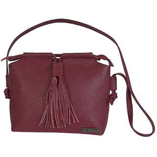 GUGALINDIA Genuine Leather Ladies Bag Red Color