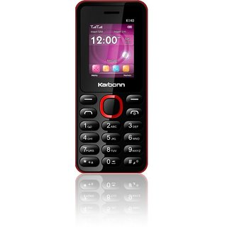 Karbonn K140 Dual Sim 1000 mAh Battery Phone With Camera/ Torch/ Wireless FM And Call Recording Features