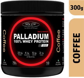 Sinew Nutrition Palladium Whey Protein With Digestive Enzymes - (300 g, Coffee)