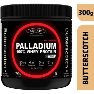 Sinew Nutrition Palladium Whey Protein With Digestive Enzymes - (300 g, Butterscotch)