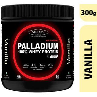 Sinew Nutrition Palladium Whey Protein With Digestive Enzymes - (300 g, Vanilla)