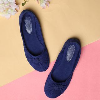Sindhi Footwear Women's Blue Synthetic Leather Bellies